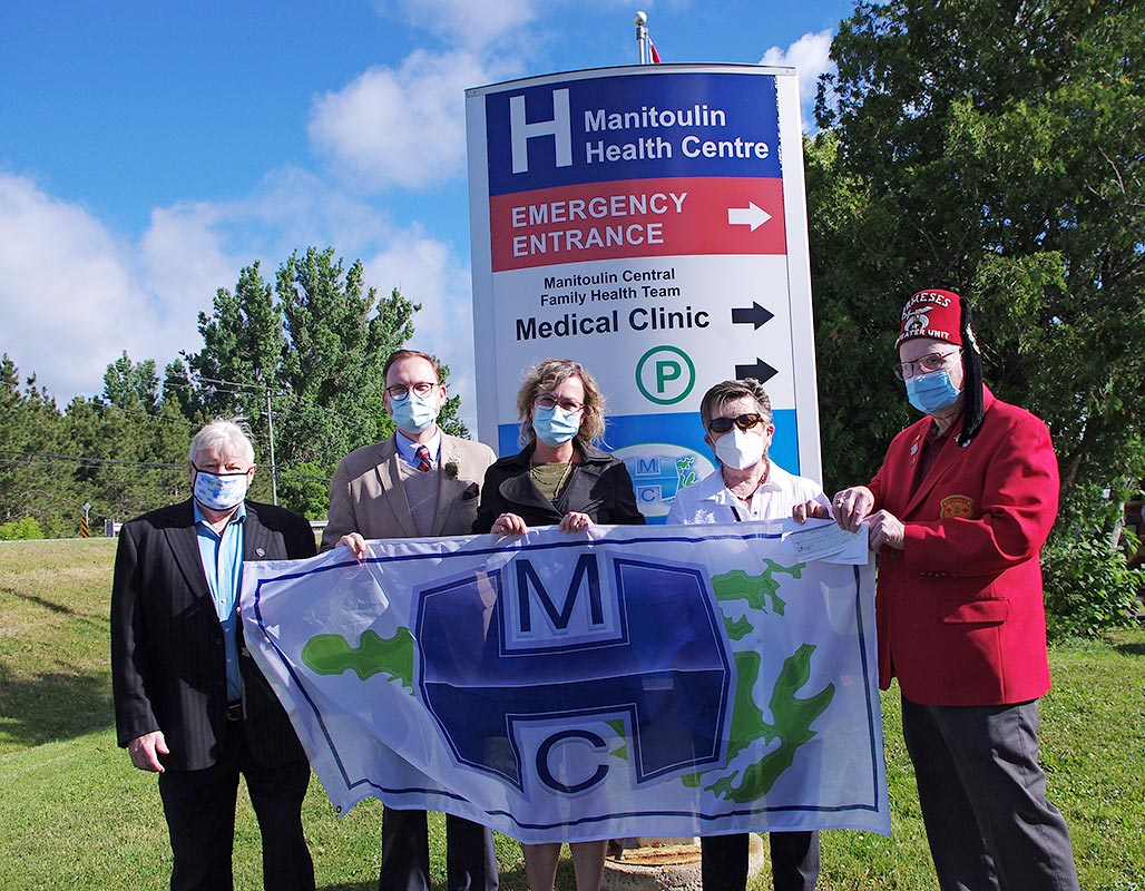 Shriner's Haweater Unit gifts another $10,000 to the Manitoulin Health Centre, Mindemoya, Manitoulin Island