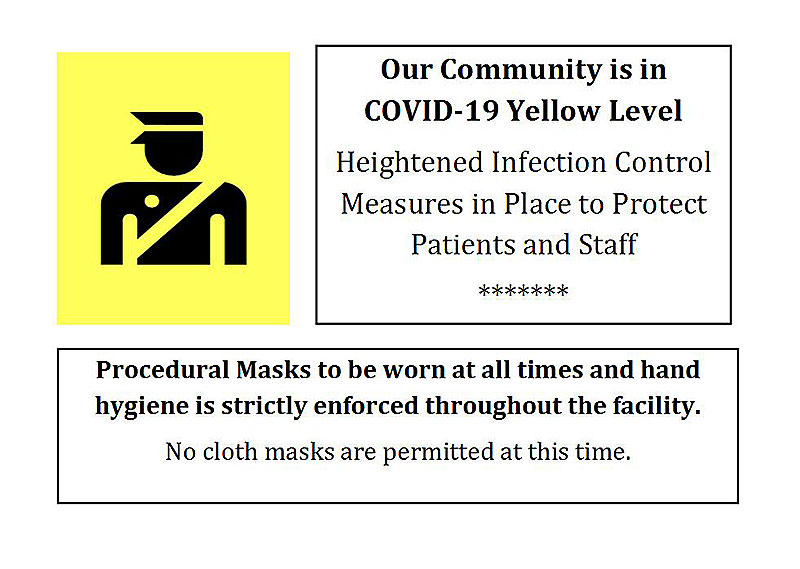 Update on Masks - COVID -19 Yellow Level