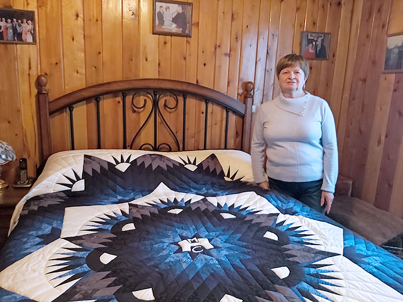 Retired Employee Commissions Quilt to Reflect Years of Service at MHC